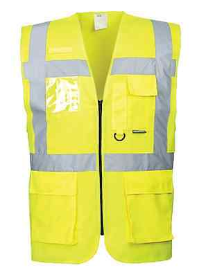 Portwest Silver Reflective Tape Class 2 Executive Safety Vest Size M-7Xl Us476