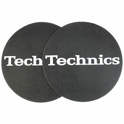 Magma Technics Simple T2 Slipmats (pair, black & silver)