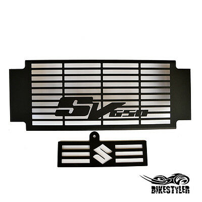 SUZUKI SV 650 / 650S 2005-10 K5-K10 BLACK MATT RADIATOR COVER w OIL COOLER GRILL