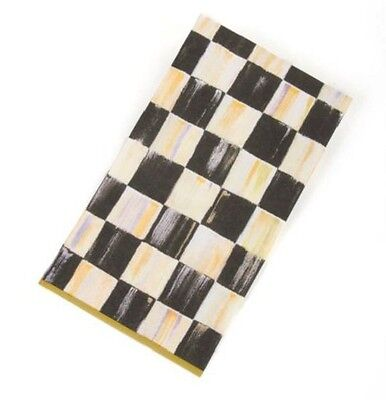 MacKenzie-Childs Courtly Check Paper Napkins Gold - Guest (15 per Pack)