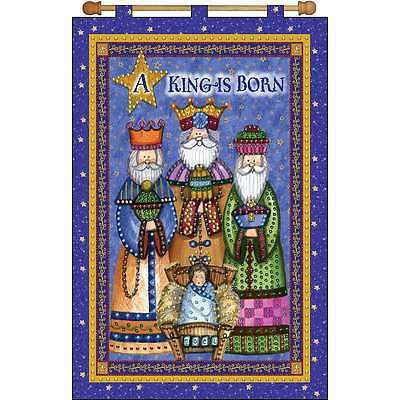 A King Is Born Jeweled Banner Kit-16 Inch X 24 Inch 021465096049