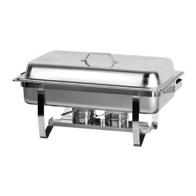 Oblong Stainless Steel Chafing Dish with Folding Legs 8 qt.