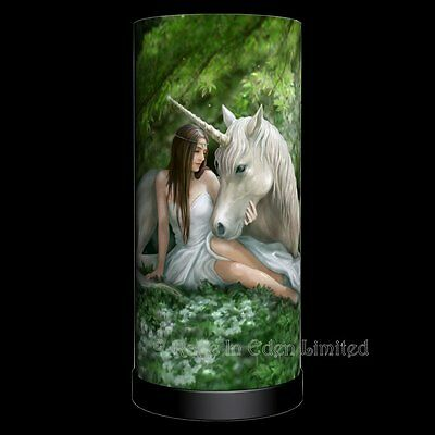 *PURE HEART* Fantasy Unicorn Art Lamp By Anne Stokes (Bulb Not Included) 27cm