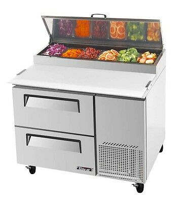 """Turbo Air 44"""" Pizza Prep Table 6 Pans 2 Cooler Drawers TPR-44SD-D2"""