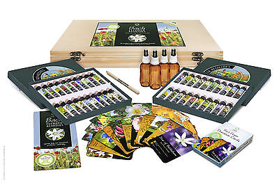 BACH FLOWER ESSENCE COMPLETE KIT 40 Remedies Wooden Case Pack Cards Gift Set Box