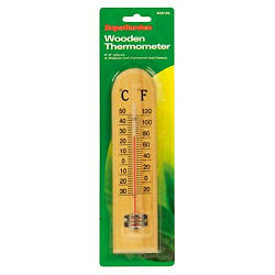 SupaGarden Wooden Thermometer 8'' (20cm)