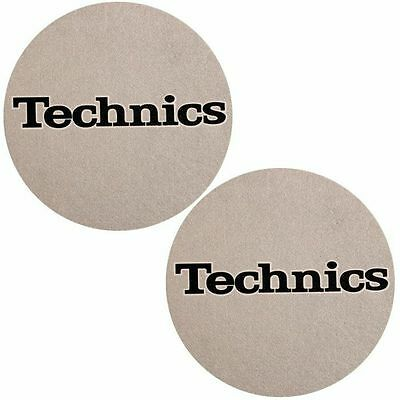 Slipmat Factory Technics Logo Slipmats (pair, metallic silver)
