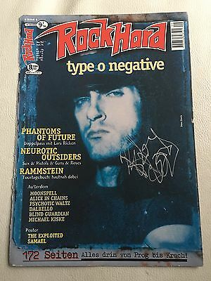 Peter Steele Type O Negative Carnivore Autogramm Signiert Signed Metallica