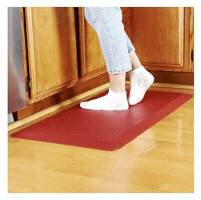 3 Of 4 Kitchen Cushion Floor Mat Padded Anti Fatigue Chef Comfort Rubber  Modern Red New