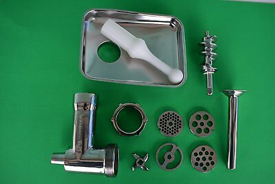 Stainless Steel meat grinder for Kitchenaid mixer.  Gift boxed.  Dishwasher safe