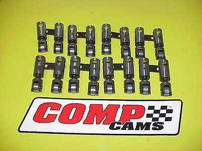 """16 Comp Cam SB Chevy Straight Up Centered Solid Roller Lifters .842"""" IMCA UMP"""
