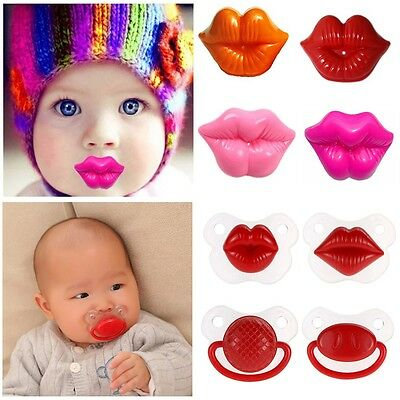 Funny Pacifier Teether Baby Silicone Nipple Dummy Lip Orthodontic Soother