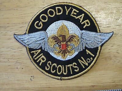 boy scouts patch ,  AIR SCOUTS  NO.1 , GOOD YEAR  , AIR SCOUTS  , BSA  NO.1