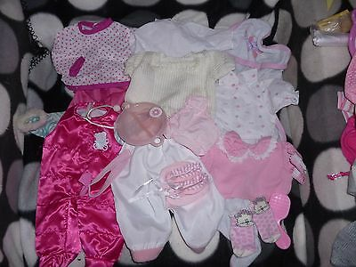 DOLL Dolls BUNDLE of OUTFITS Sets CLOTHES Fit BABY ANNABELL and BABY BORN