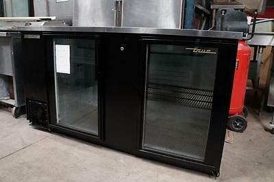 True Double Glass Door Bar Cooler for Bar or Man Cave