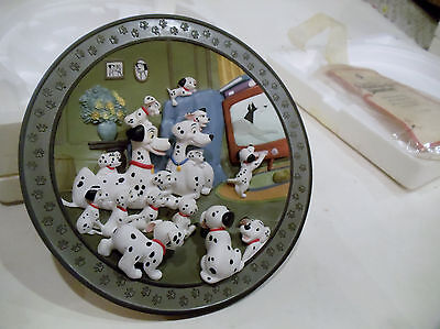 Disney 101 One Hundered And One Dalmations Watch Out Thunder 3D Plate Coa Stand