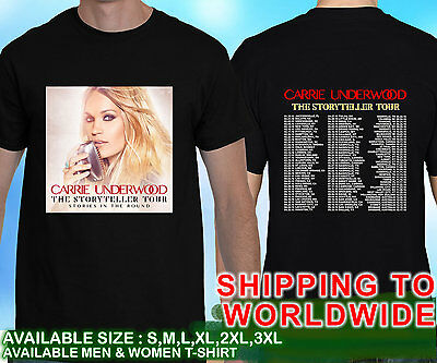 02e8c5d7 NEW CARRIE UNDERWOOD The Storyteller Tour Dates 2016 Black T Shirt ...
