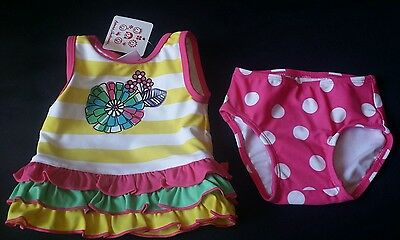 Nwt Hanna Andersson Girls Swimsuit Sz 60 2-6 Mo