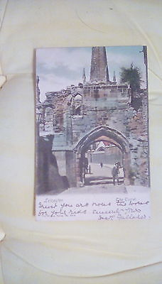 1904 colour postcard of The Turret, Leicester