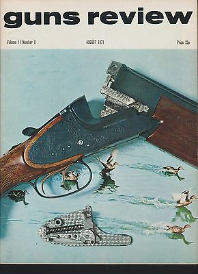 GUNS REVIEW August 1971 - Wheellock Pistols, Caseless Ammunition, Brno Super