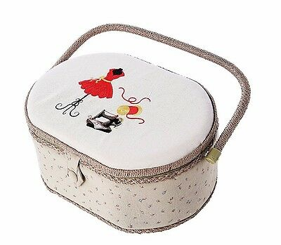 Professional Sewing Kit With Oval Sewing Accessories Organizer Basket Sewing