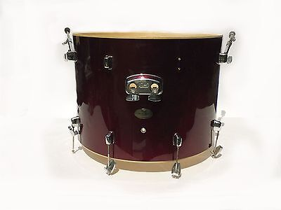 """Pearl Forum Series 22"""" x 16"""" Bass Drum with hoops & hardware - red wine finish"""