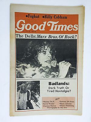 Vintage Good Times NYC rock music newspaper - April 1974 New York Dolls cover