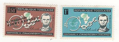 1963 TOGO ( former French colony ) SLAVE'S EMANCIPATION to 1f. Lincoln MNG