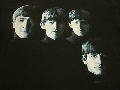 WITH THE BEATLES face photo 2-sided album cover concert tour shirt adult medium