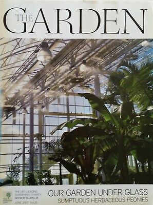 RHS The Garden Magazine June 2007 - including Peonies Cut Flowers and Alpines