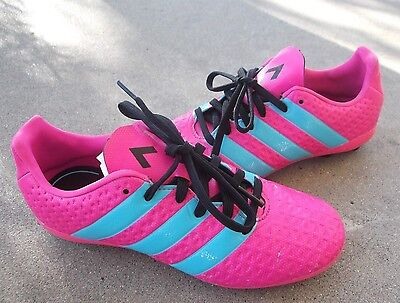 2015 Youth Girls ADIDAS cleats size US 2Y pink soccer kids shoes cleet FREESHIPP