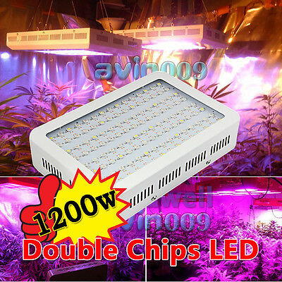600W&1000W&1200W LED Full Spectrum Grow Light Double Chip Plant Growing Indoor