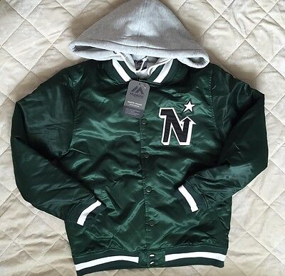 BNWT Majestic NHL Minnesota North Stars Letterman Jacket Size M