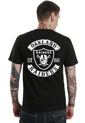 Oakland Raiders Black Established 1960 Fan Shirt - Biker Rockers - FREE SHIPPING