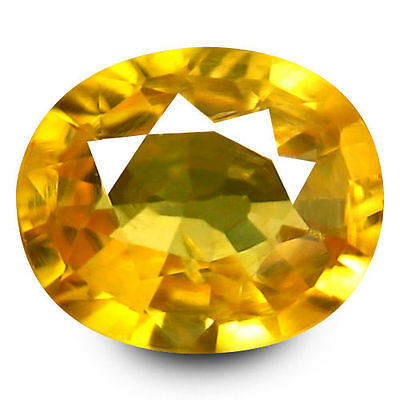 0.960Cts Brilliant Top Luster Golden Yellow Natural Sapphire Oval Loose Gemstone