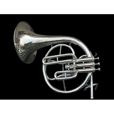 Horn Mellophone Made Of Pure Brass With Extra Slide Free Case & Mouthpiece
