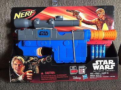 Nerf Star Wars  Han Solo Blaster Episode VII The Force Awakens **NEW** Free Ship