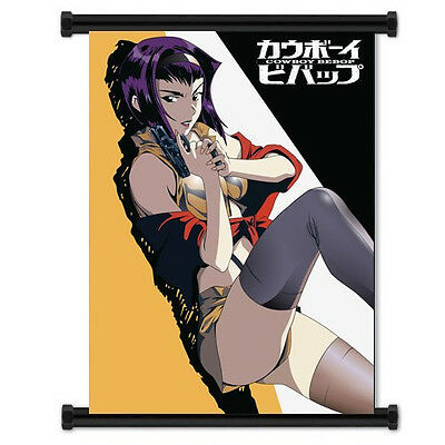 Cowboy Bebop Sexy Anime Girl Faye Valentine Fabric Wall Scroll Poster  66