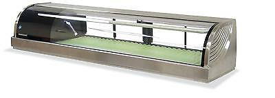 "Hoshizaki HNC-150BA- 59"" Refrigerated Sushi Glass Case Stainless Counter Top"