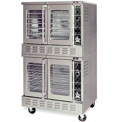 American Range Double Stack Gas Convection Oven Standard Depth 2 Solid Door