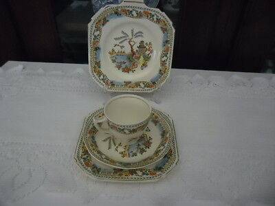 Parrott @ Company, Coronet Ware, Willow, Burslem Made In England Cup/saucer/etc