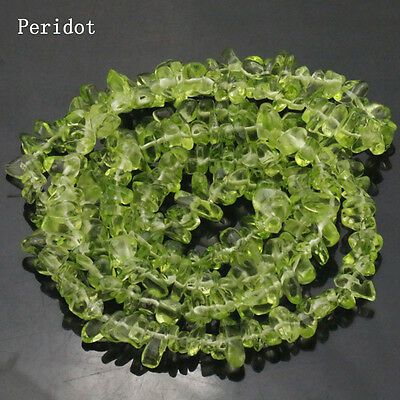 Wholesale!!Natural Peridot Gemstone Chip Loose Beads Strand 15""