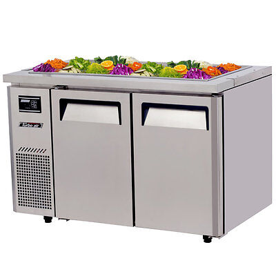 "Turbo Air JBT-48 48"" Refrigerated Buffet Display Table Stainless w/ Casters"