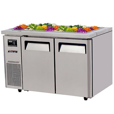 """Turbo Air JBT-48-N 48"""" Refrigerated Buffet Display Table Stainless w/ Casters"""