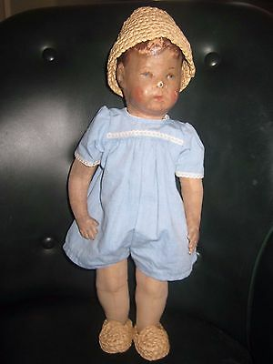 Kaethe Kruse Kathe Kruse Doll Puppe 1 Alte Froschhand Froghand 100 years old