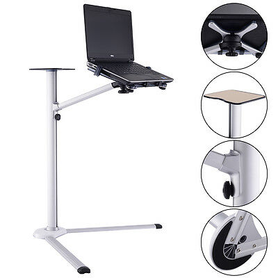 Laptop Stand 360° Rotating Height Adjustable Tilting Bedside Floor Sofa New