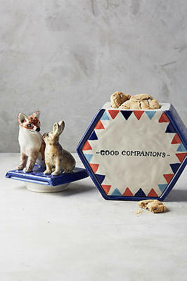 NEW Anthropologie Good Companions Cookie Jar By David Cleverly, Large