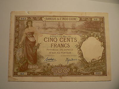 Banknote L indo-China 500 Francs 1938