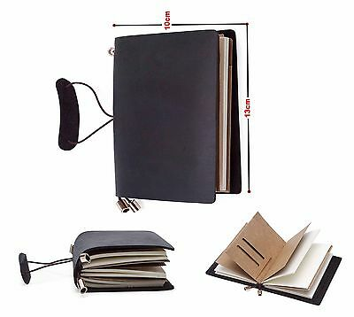 Classic Leather Bound Diary Notebooks Journals Travel Notepad Gift Book Handmade