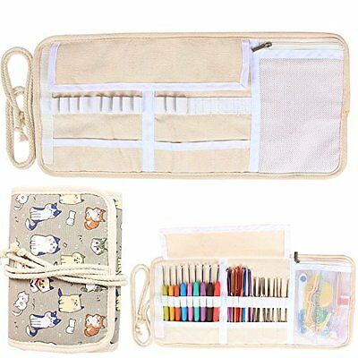 Craft Sewing Supplies Storage Damero New Canvas Crochet Hooks Wrap Accessories